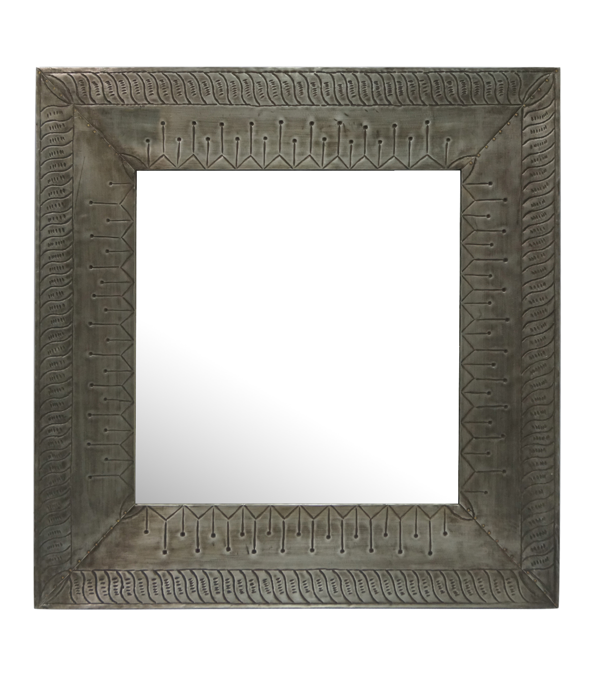 Idea Market Hand-Done Antique Zinc Metal Cladded Mirror