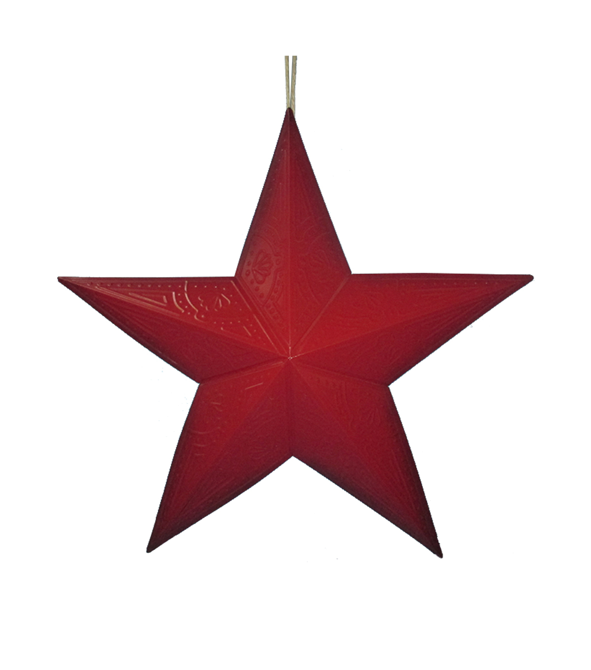 Superbe Maker\u0027s Holiday Christmas Metal Star Wall Decor Red