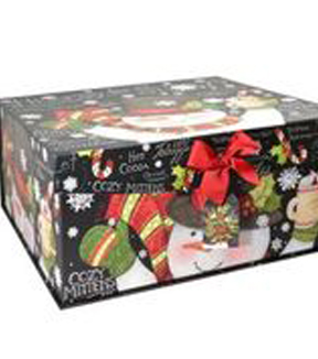Maker's Holiday Extra Large Flip Top Box-Blackboard Snowman
