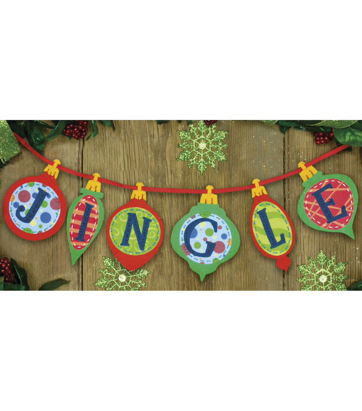 Dimensions Felt Applique Kit Jingle Banner