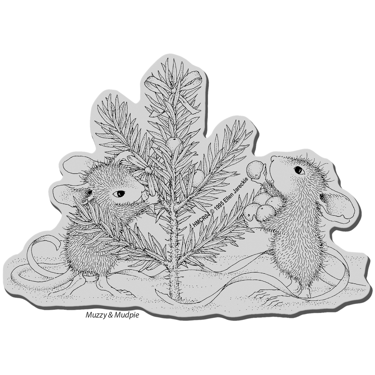 Stampendous House Mouse Cling Stamp Trim The Tree
