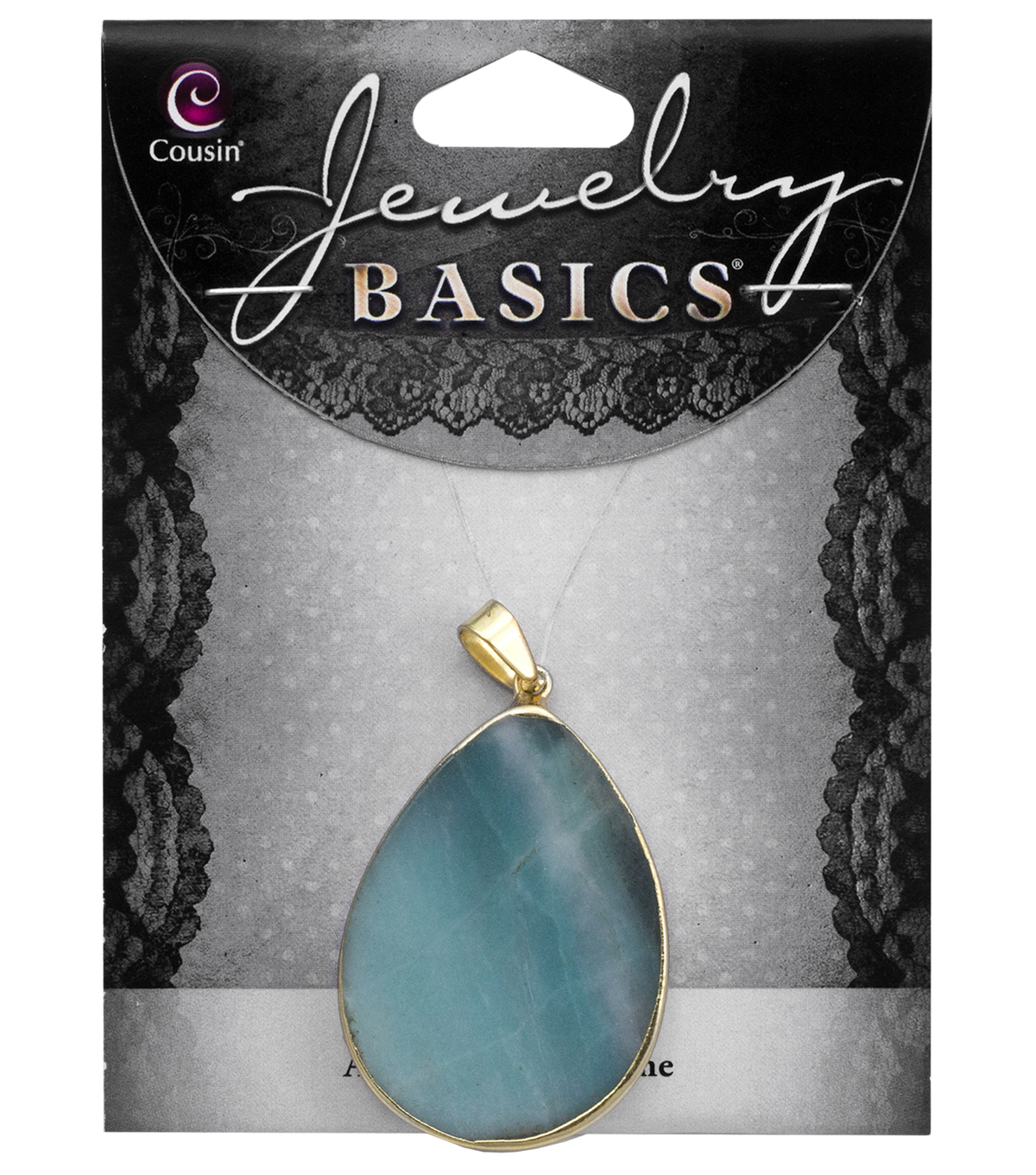 Cousin® Jewelry Basics Teardrop Slice Accent-Green & Blue