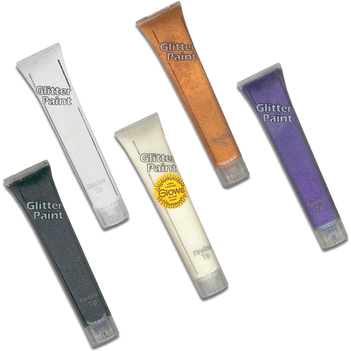 Aunt Martha Glitter Paint Tubes Twilight