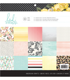 Heidi Swapp Hello Gorgeous 48 Sheets 12\u0027\u0027x12\u0027\u0027 Double-sided Paper Pad