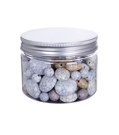 hildie & jo™ Fashion Beads in Plastic Jar-Multicolor with Crack