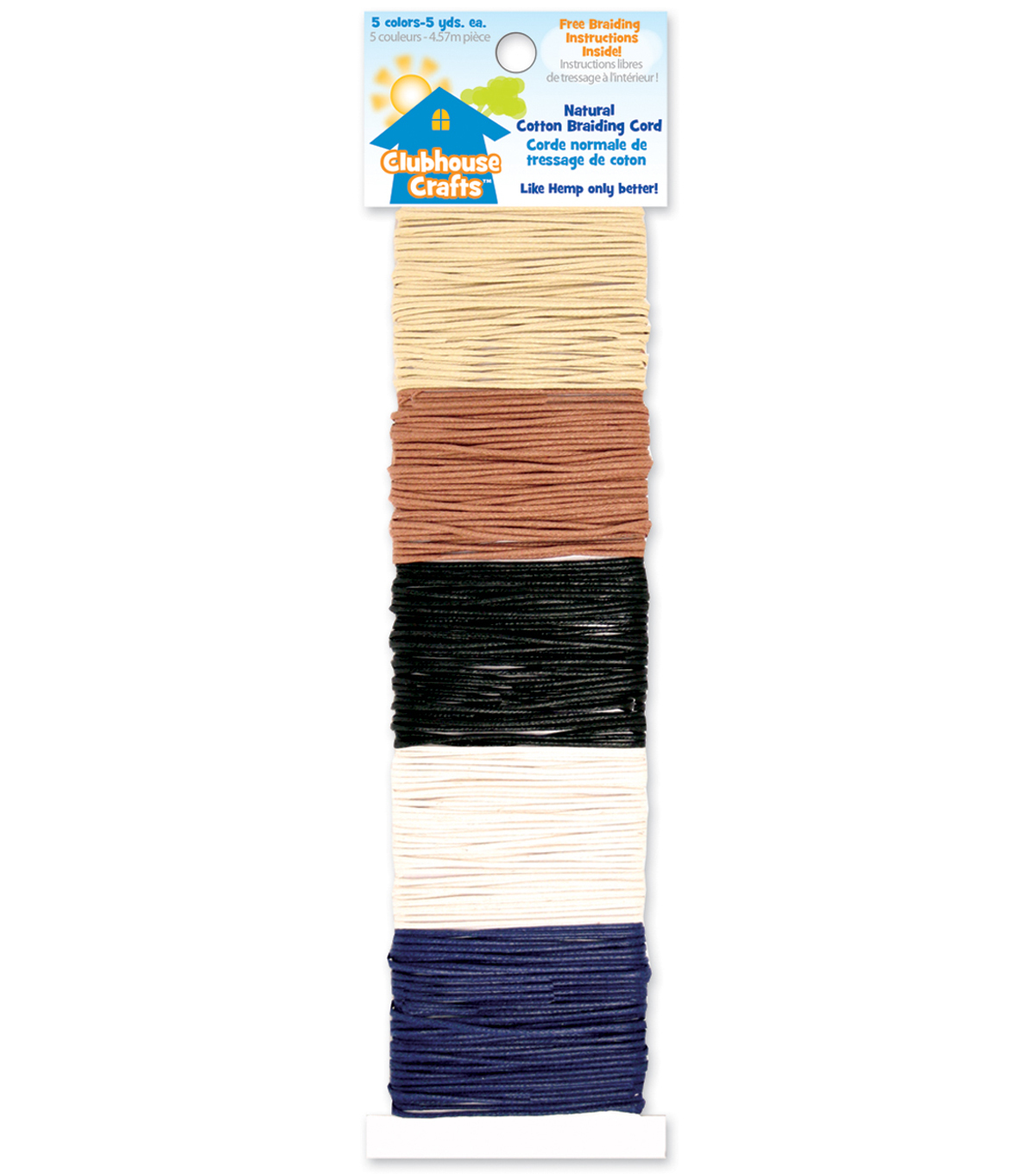 Clubhouse Crafts Cotton Braiding Cord-Natural Colors