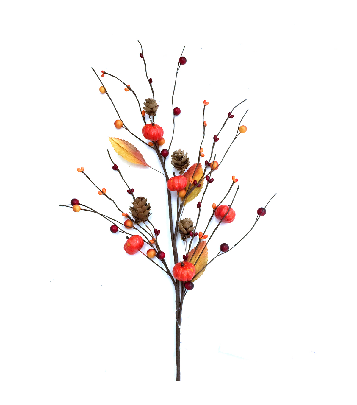 Blooming Autumn 28'' Pumpkin, Berry & Pinecone Spray