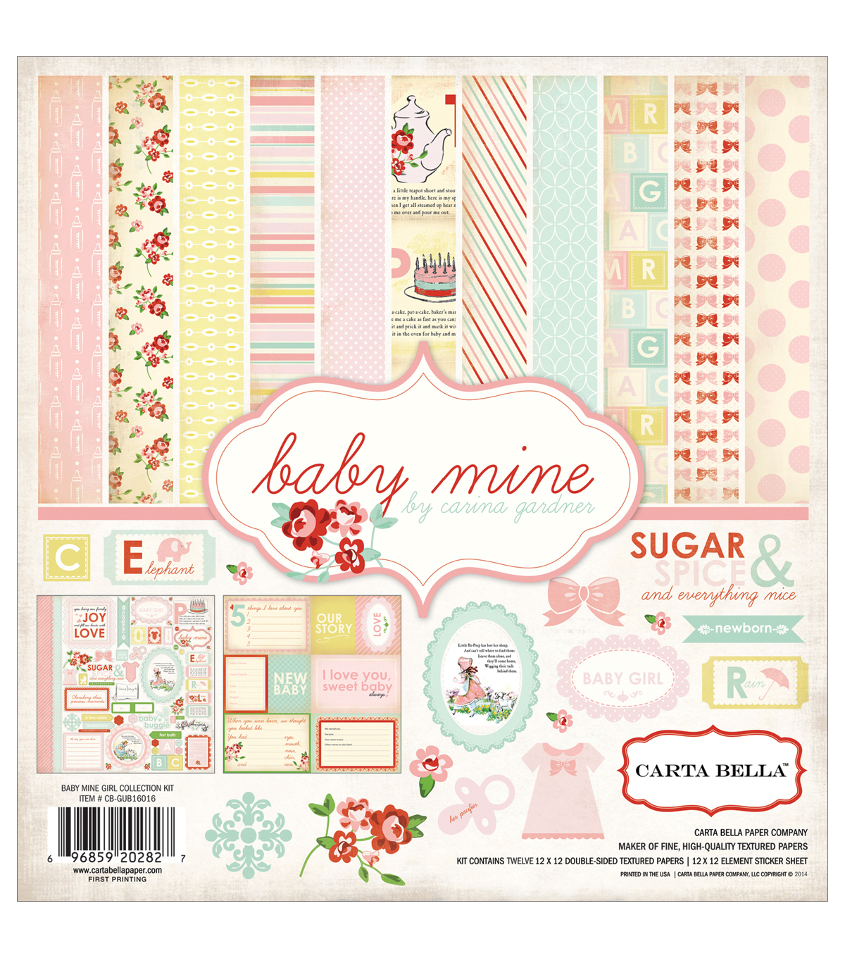 "Carta Bella Collection Kit 12""X12""-Baby Mine/Girl"