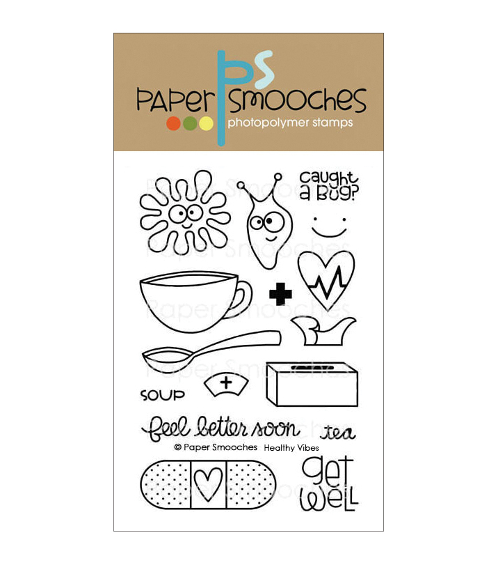 Paper Smooches Clear stamps Healthy Vibes