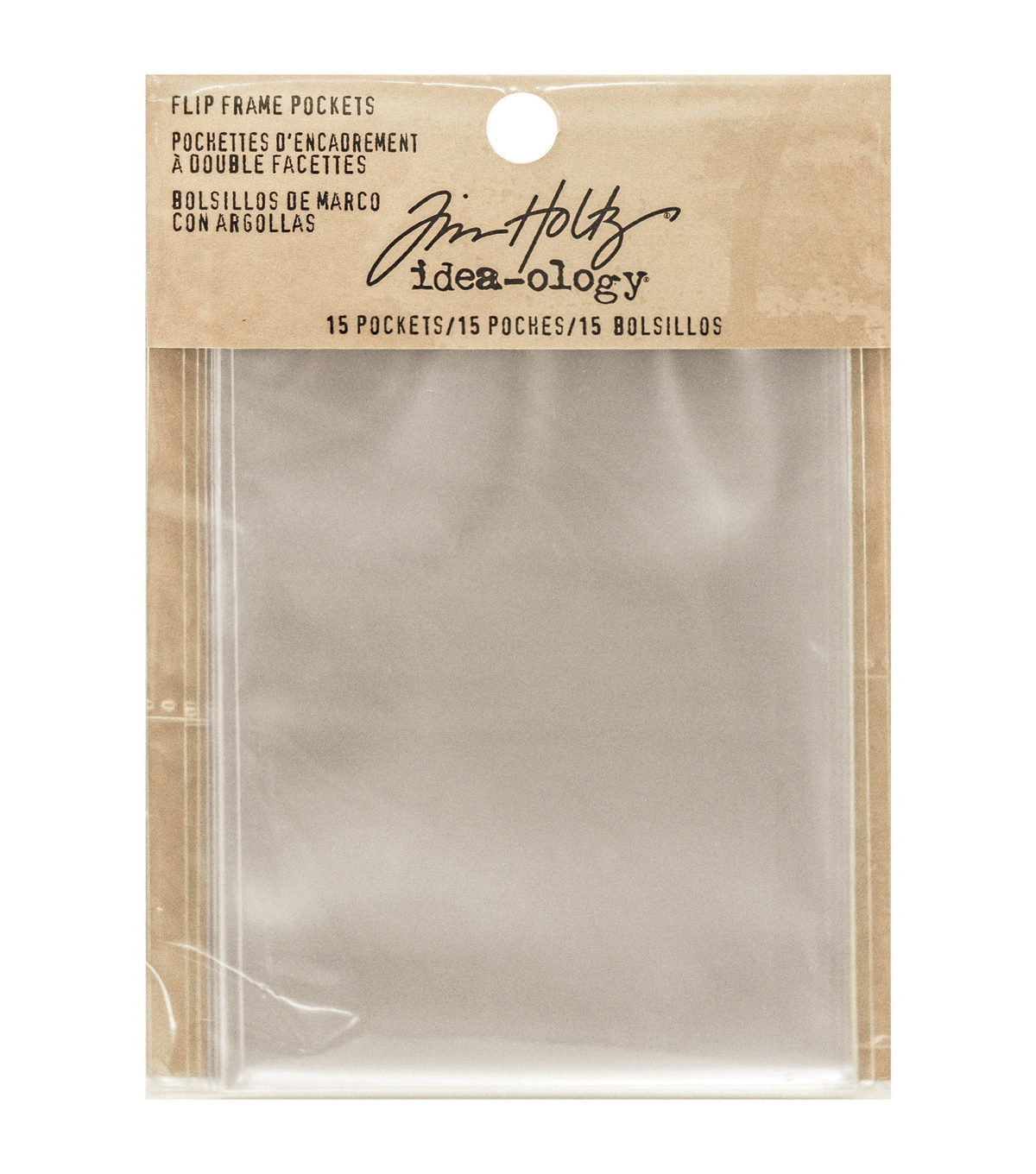 "Tim Holtz Idea-Ology Flip Frame Pockets 15/Pkg-Single 3.25""X4.25"" & Double 3.25""X2"""