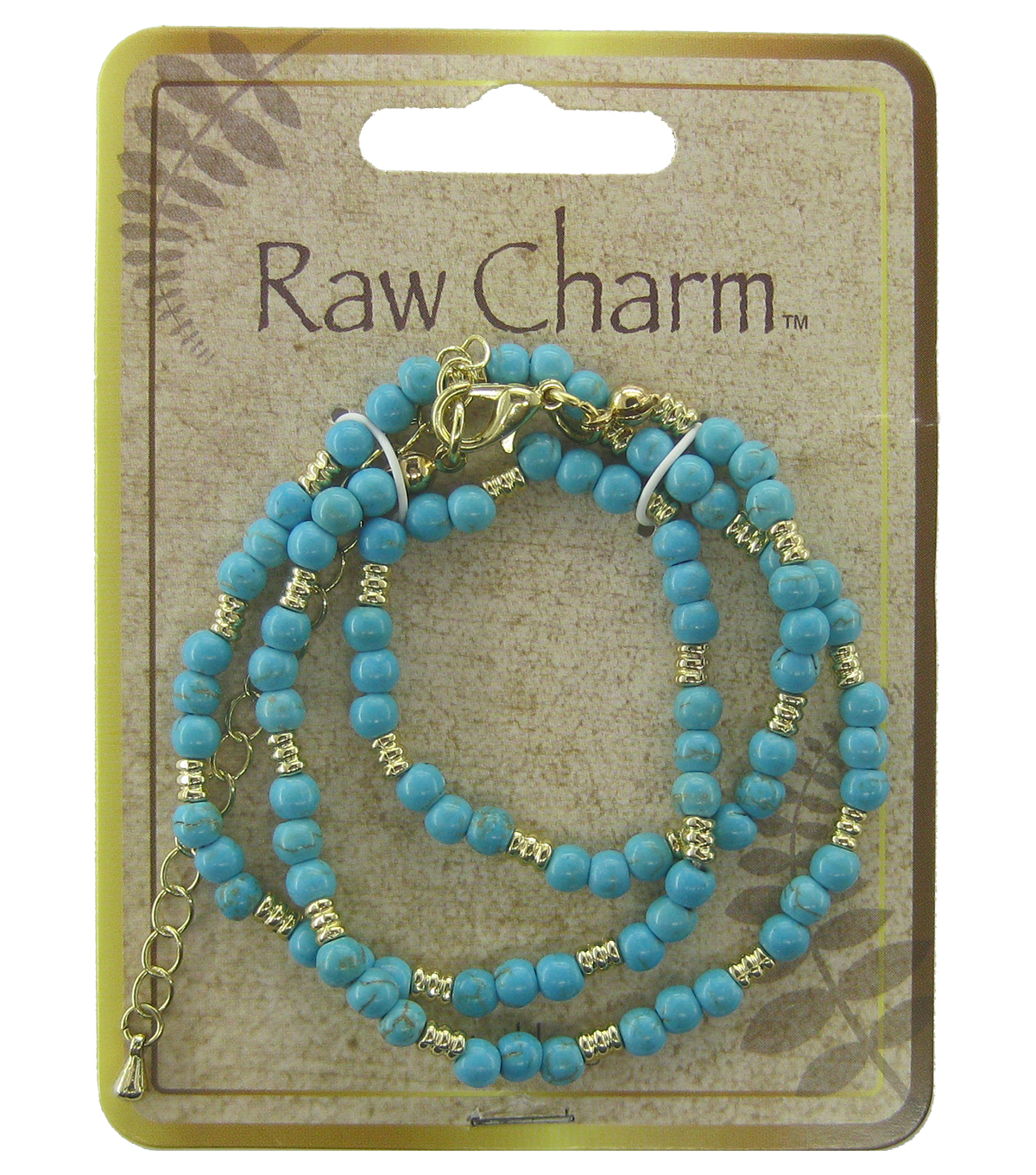 Naturals Raw Charm Turquoise Necklace
