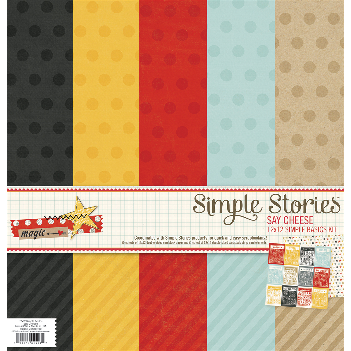 Simple Stories Say Cheese Simple Basics Scrapbooking Kit