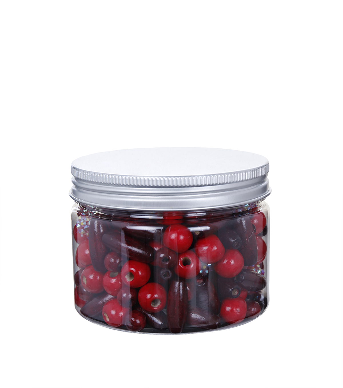 hildie & jo™ Assorted Fashion Beads in Plastic Jar-Red & Burgundy