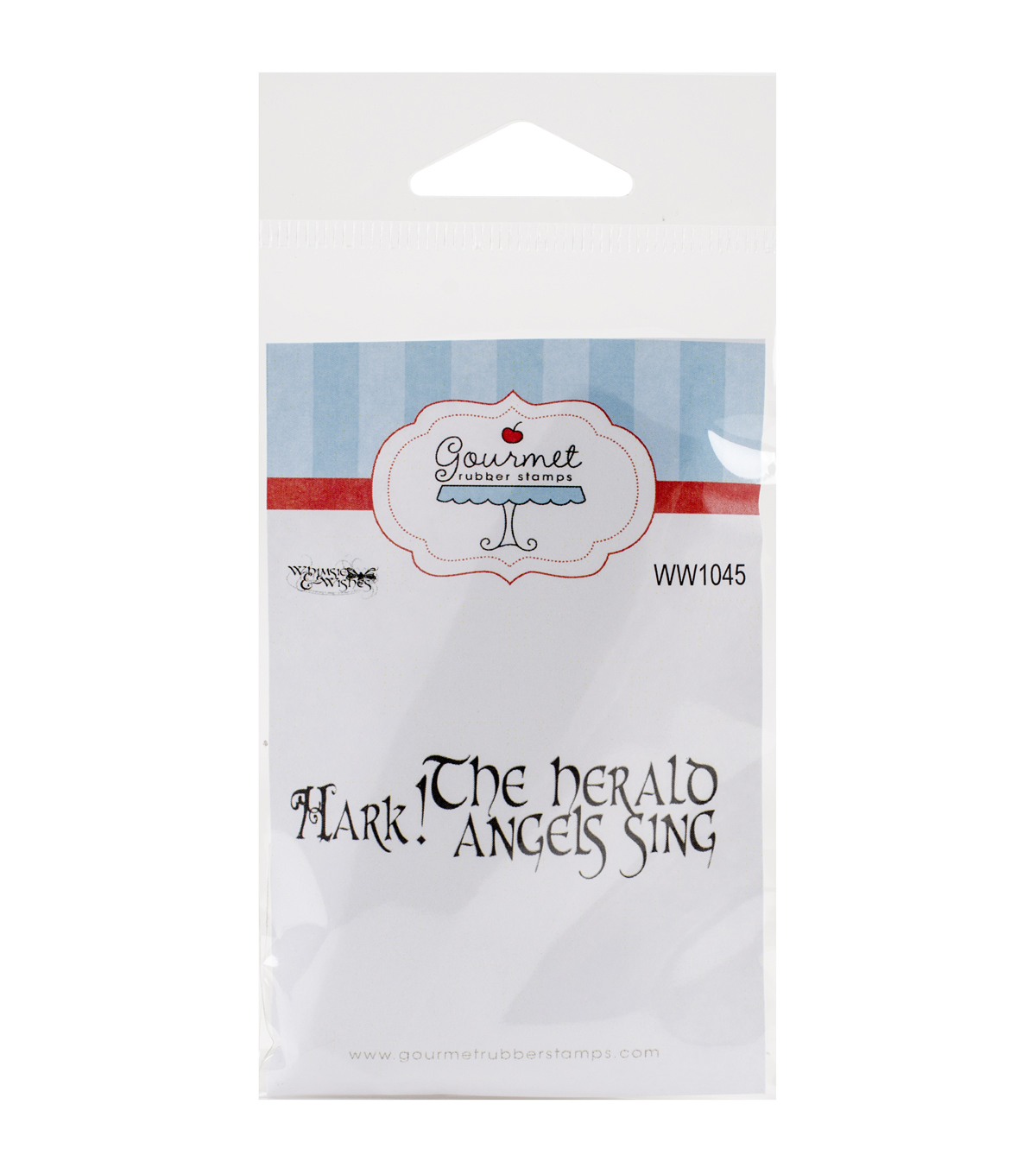 Gourmet Rubber Stamps Cling Stamps-Hark! The Herald Angels Sing
