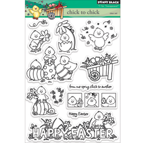 Penny Black Clear Stamps Sheet Chick To Chick