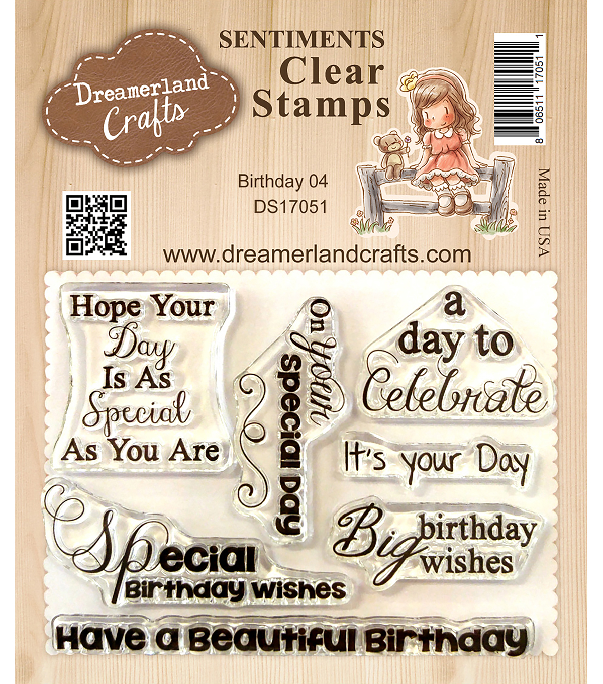 DreamerlandCrafts Clear Stamp Set 3\u0022X4\u0022-Birthday 04