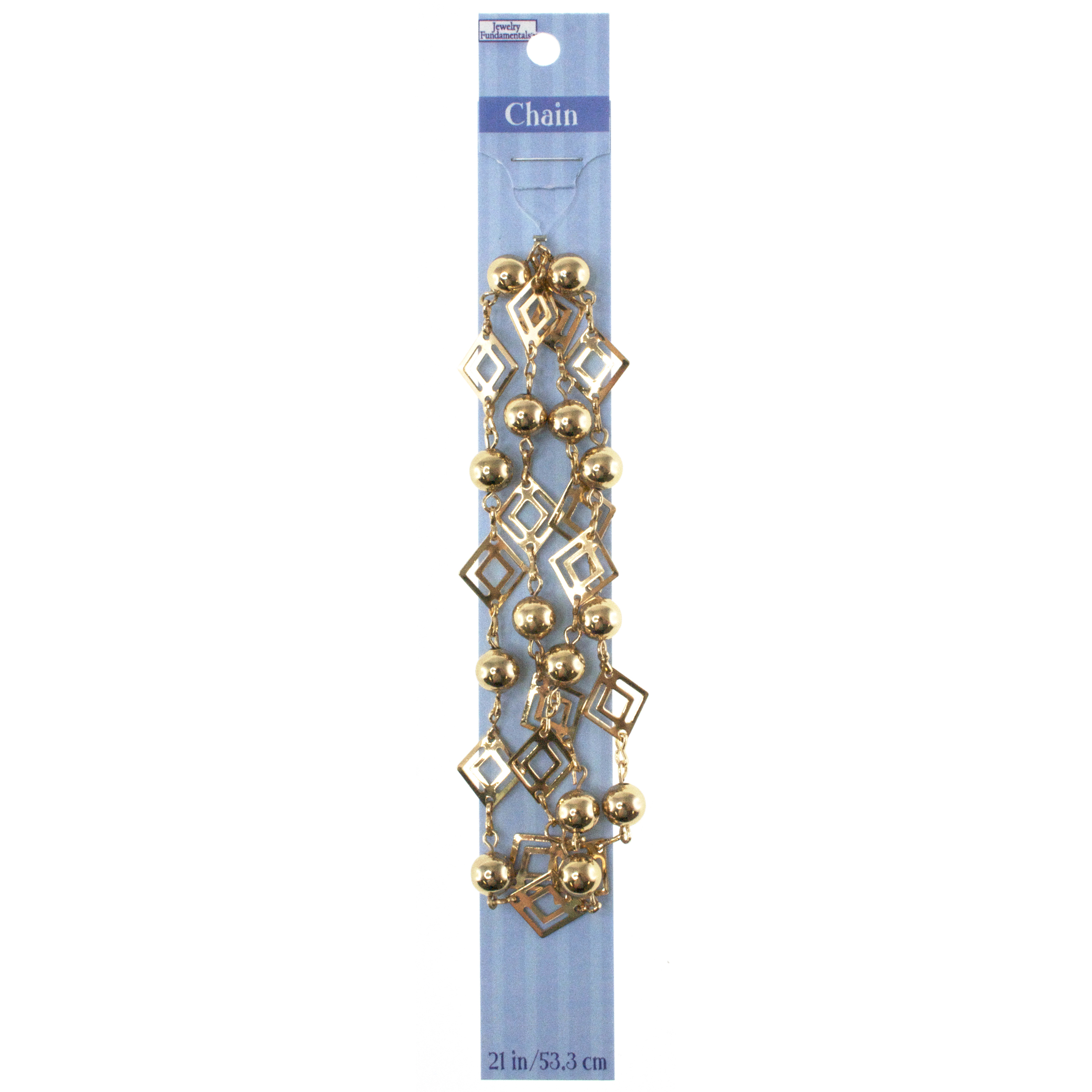 Jewelry Fundamentals 21 in. Chain-Pale Copper Diamond Cutouts