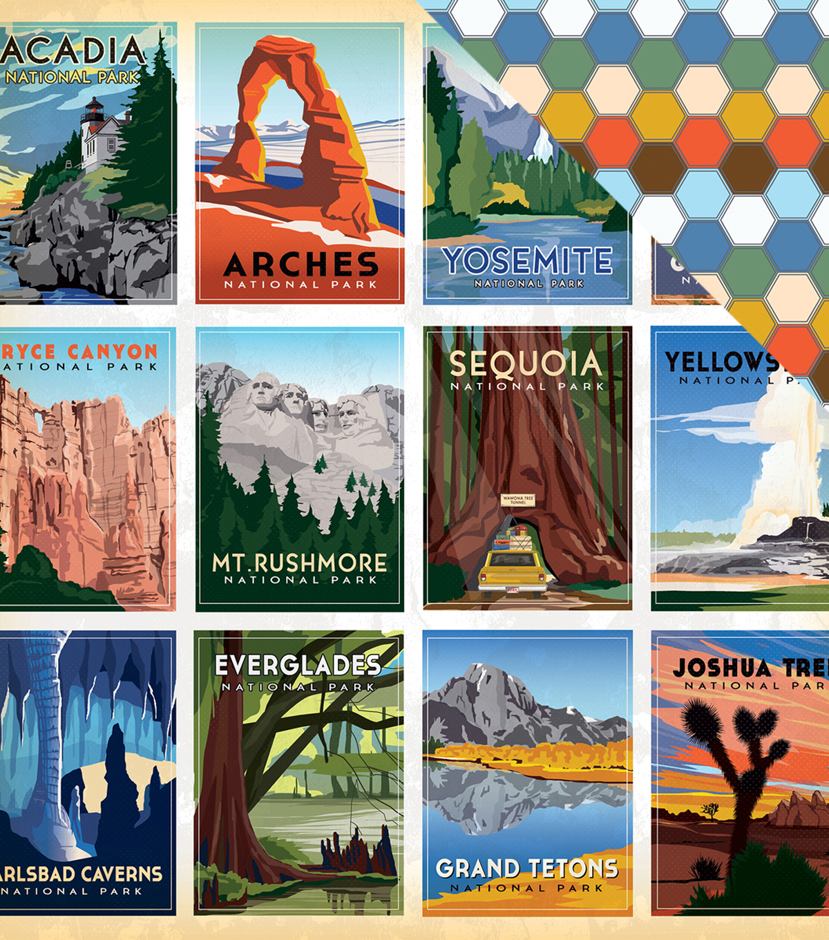 "Are We There Yet? Double-Sided Cardstock 12""X12""-National Parks"