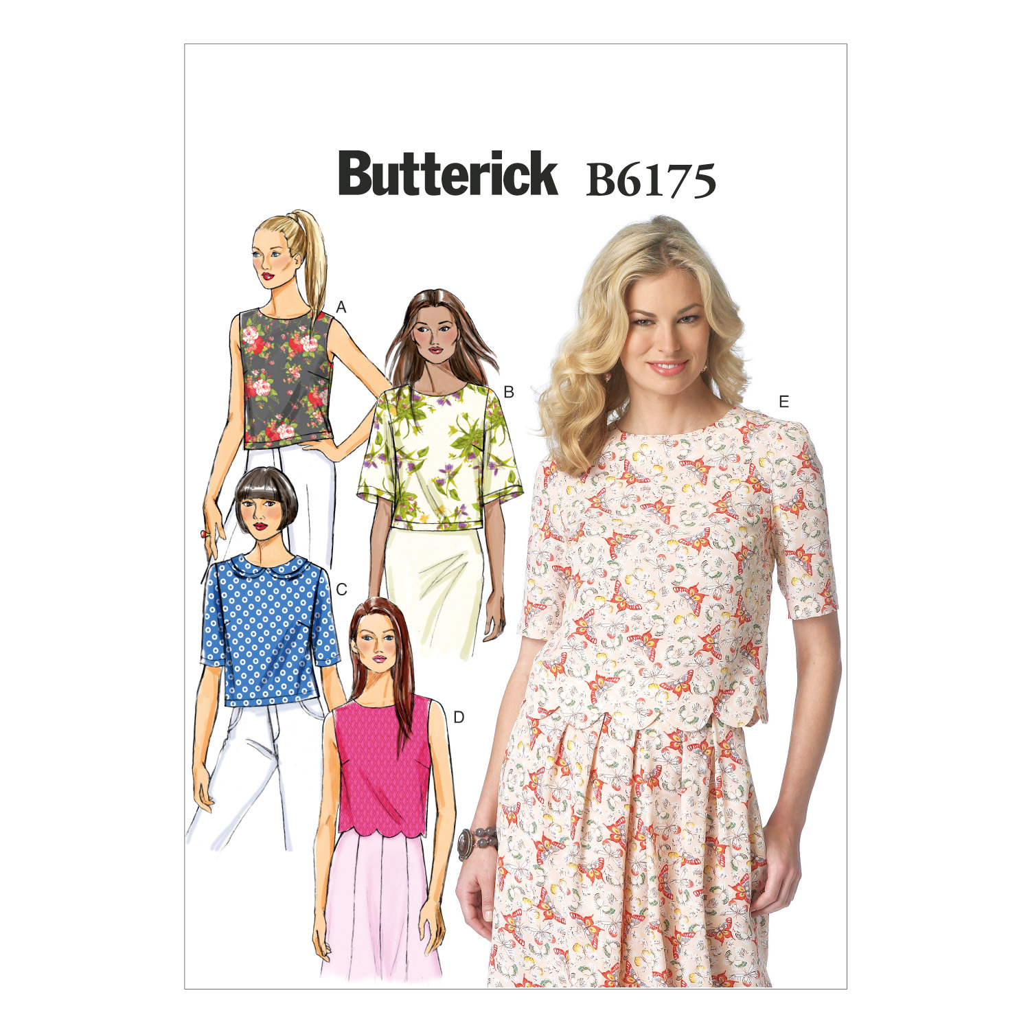 Butterick Misses Top-B6175