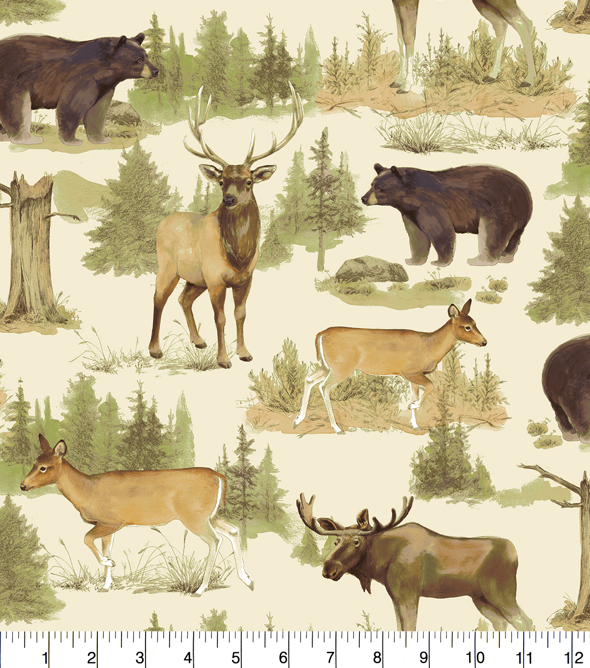 Snuggle Flannel Fabric 42''-Animals In Nature