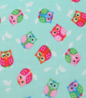"Anti-Pill Fleece Fabric 59""-Winking Owls"