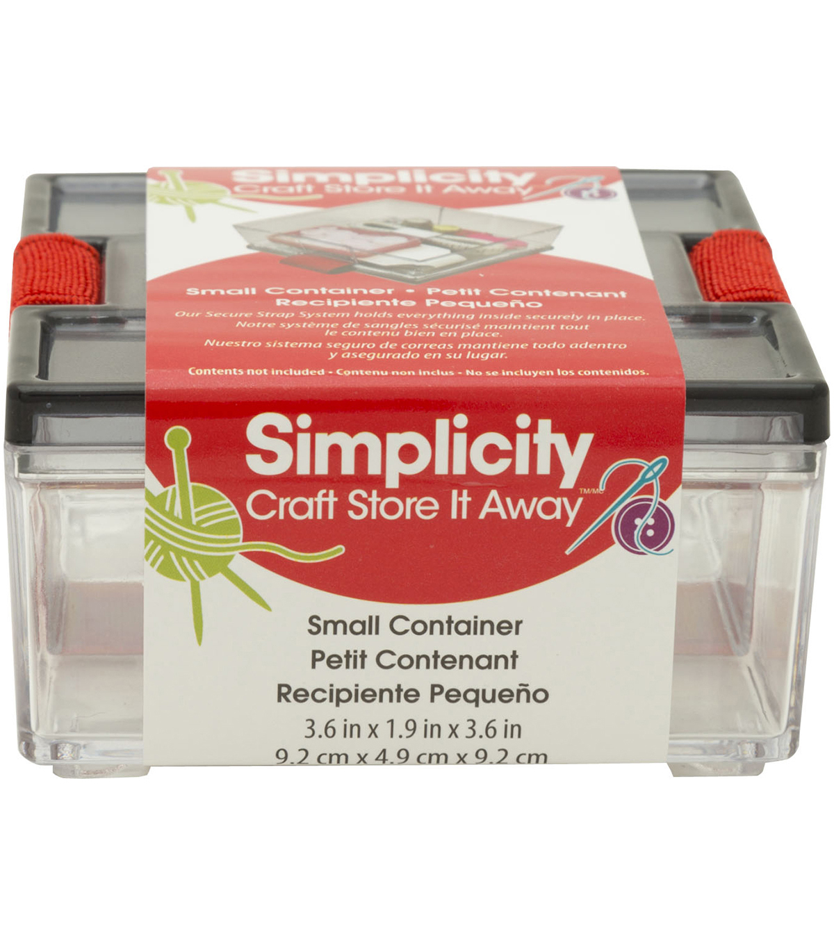 Simplicity General Container 3.6''x1.9''x3.6''