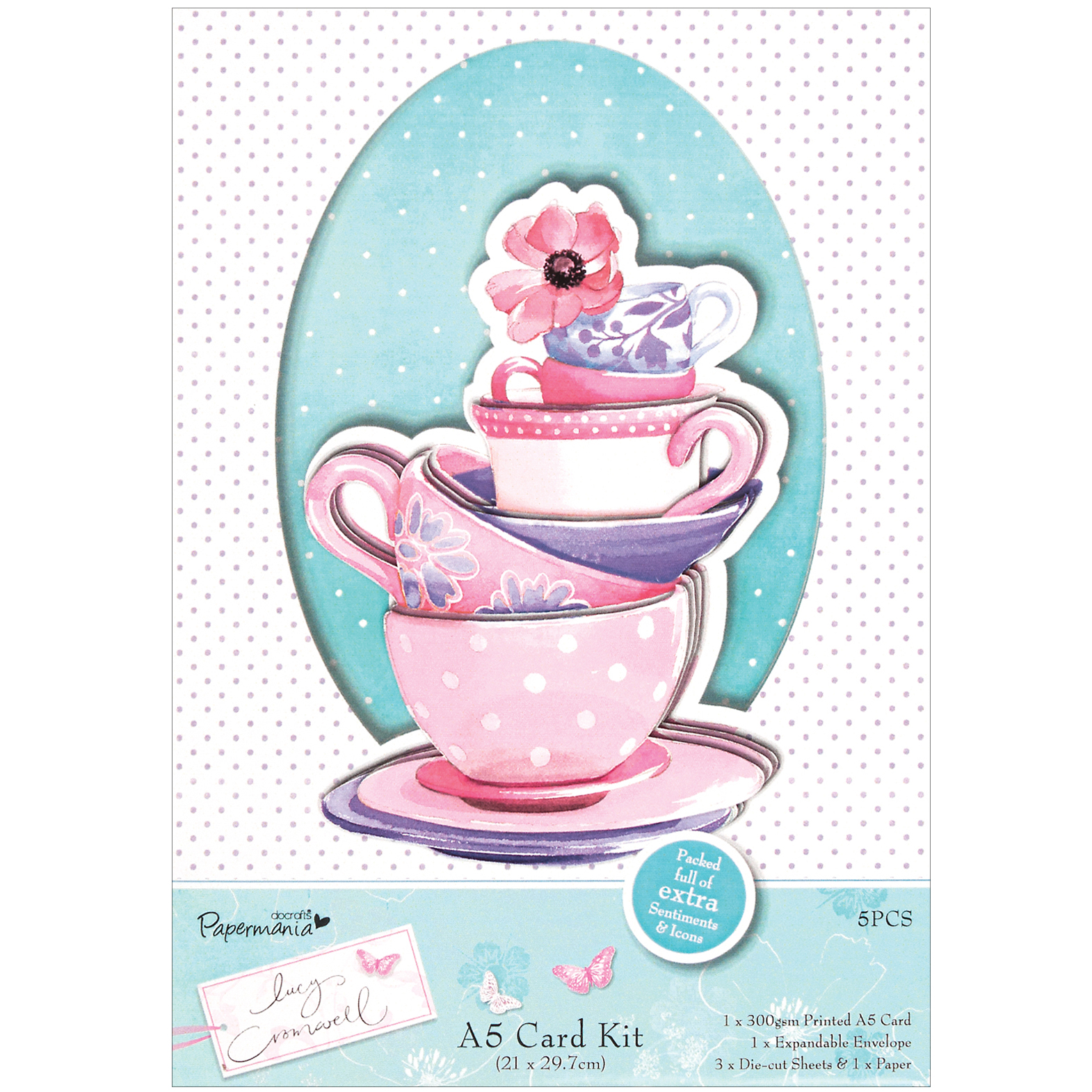 Docrafts Papermania Lucy Cromwell A5 Card Kit
