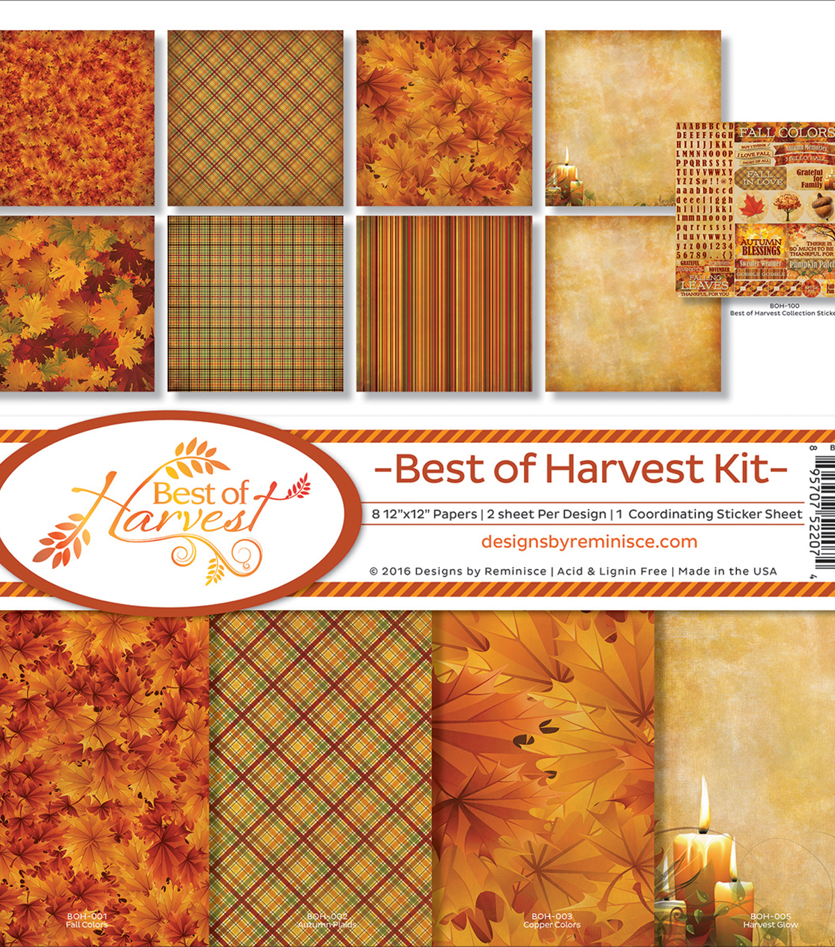 Reminisce Collection Kit 12\u0022X12\u0022-Best Of Harvest