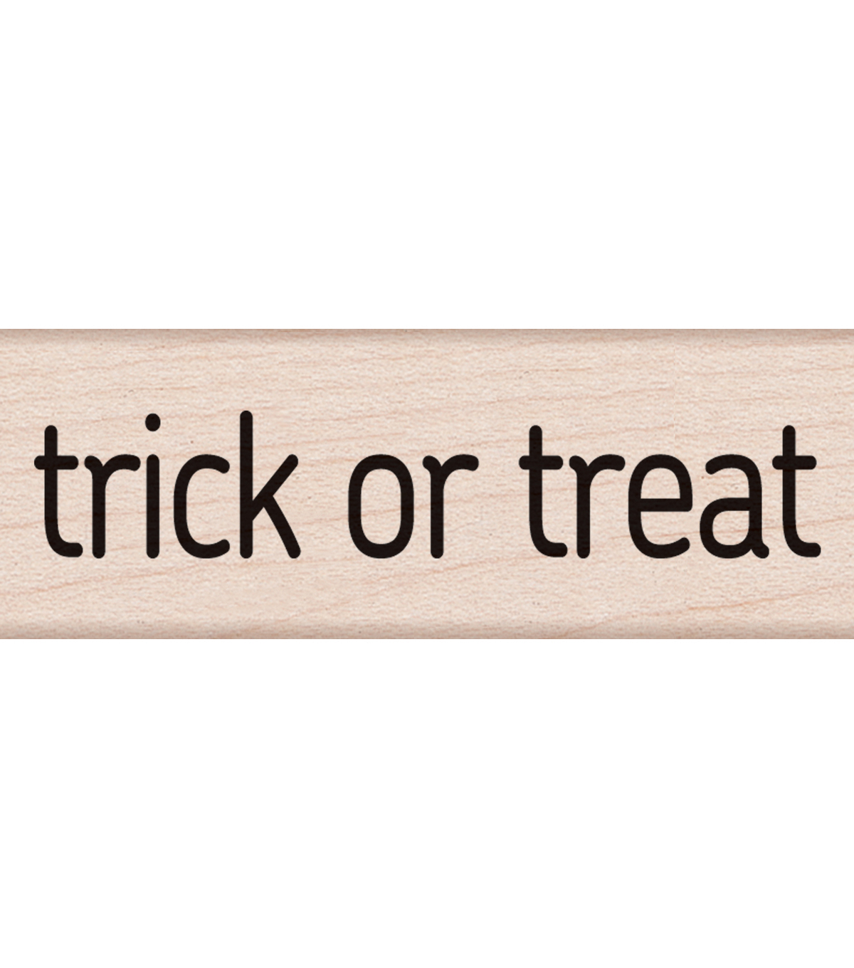 Hero Arts Mounted Rubber Stamp 2.75\u0022X1\u0022-Trick Or Treat Message