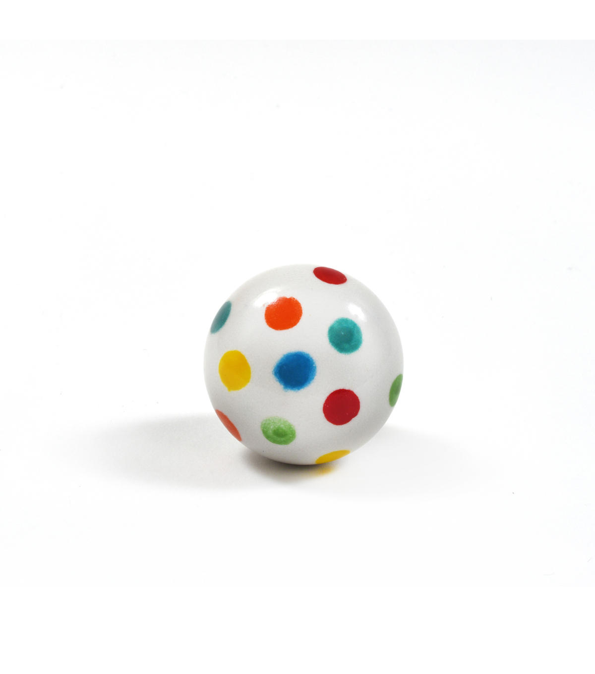 Dritz Home Ceramic Polka Dot Ceramic Ball Knob