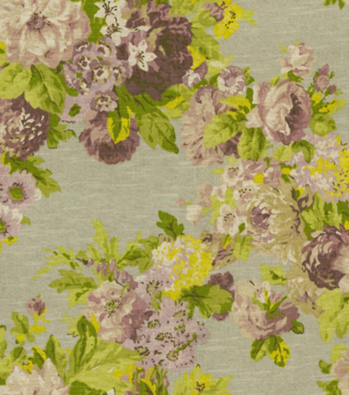 Waverly Print Fabric Juliet Wisteria