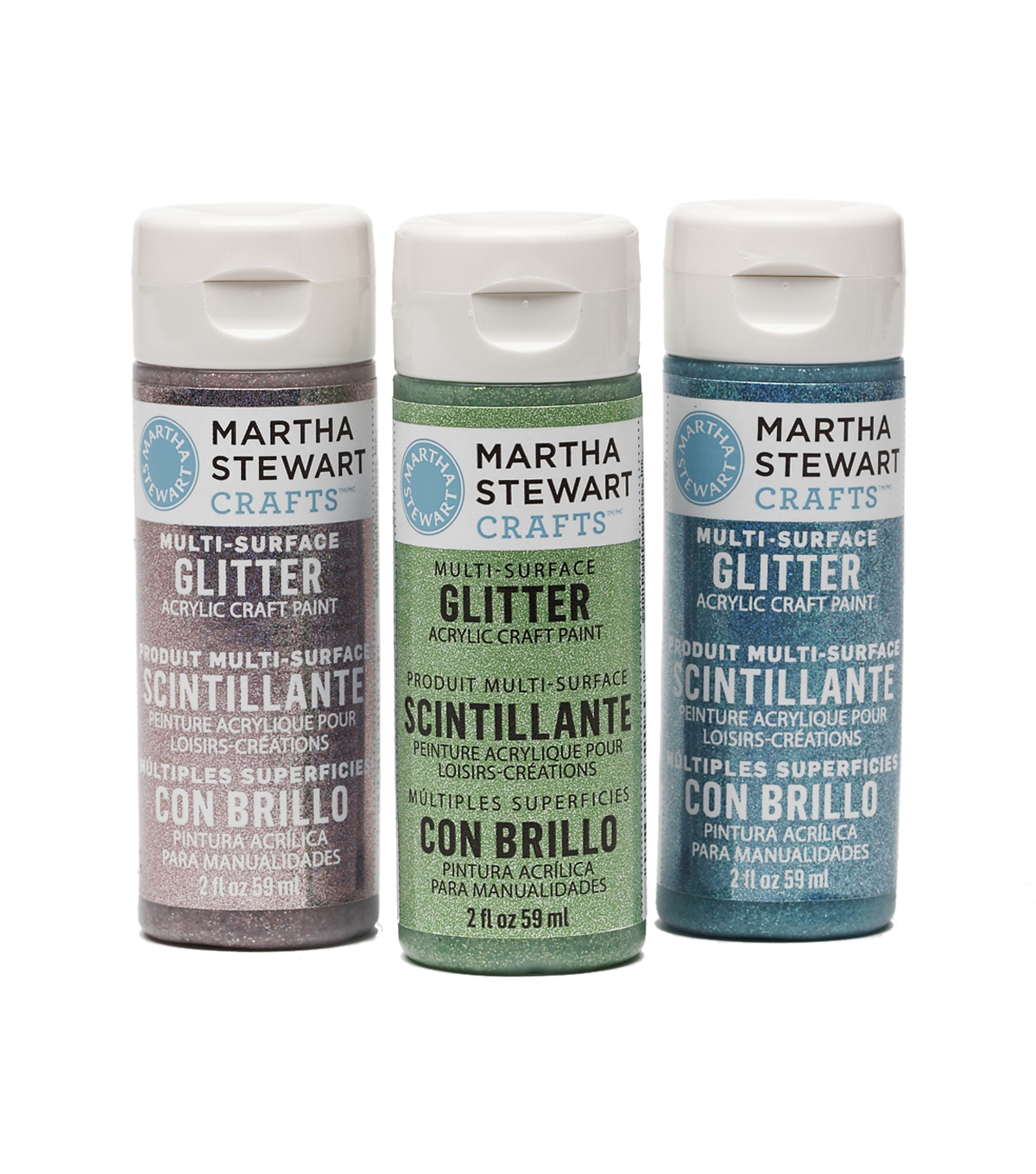 Martha Stewart 2oz Multi-Surface Glitter Acrylic Craft Paint