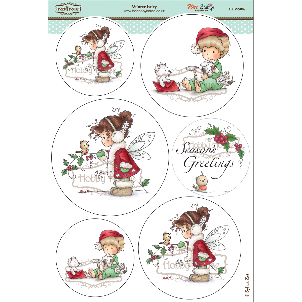 The Hobby House Wee Topper Sheet Winter Fairy