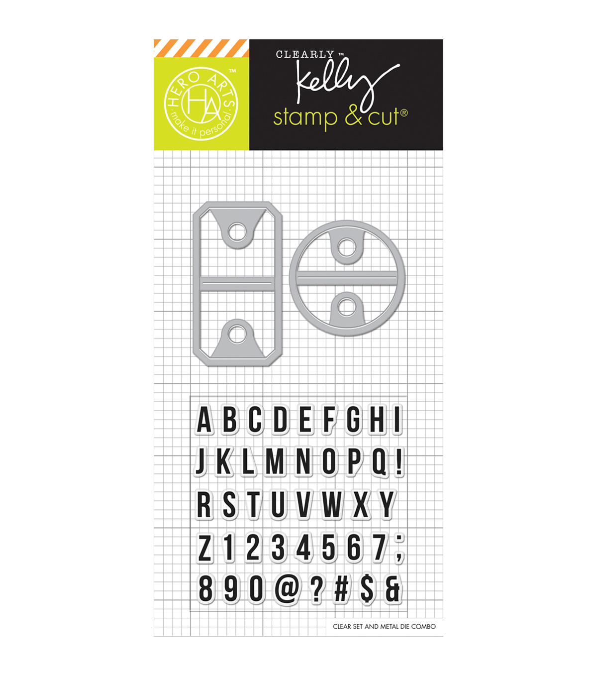 Hero Arts® Kelly\u0027s Stamp & Cut-Alpha Tabs