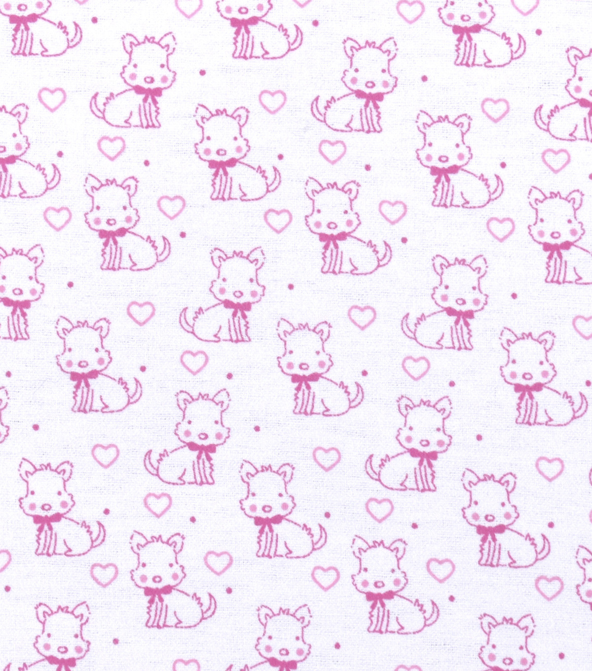 Nursery Flannel Fabric 42\u0022-Sweet Pink Puppies