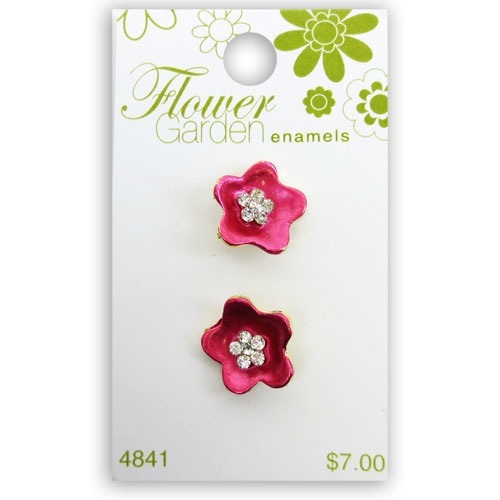Flower Garden Pink Frosted Flower W Crys