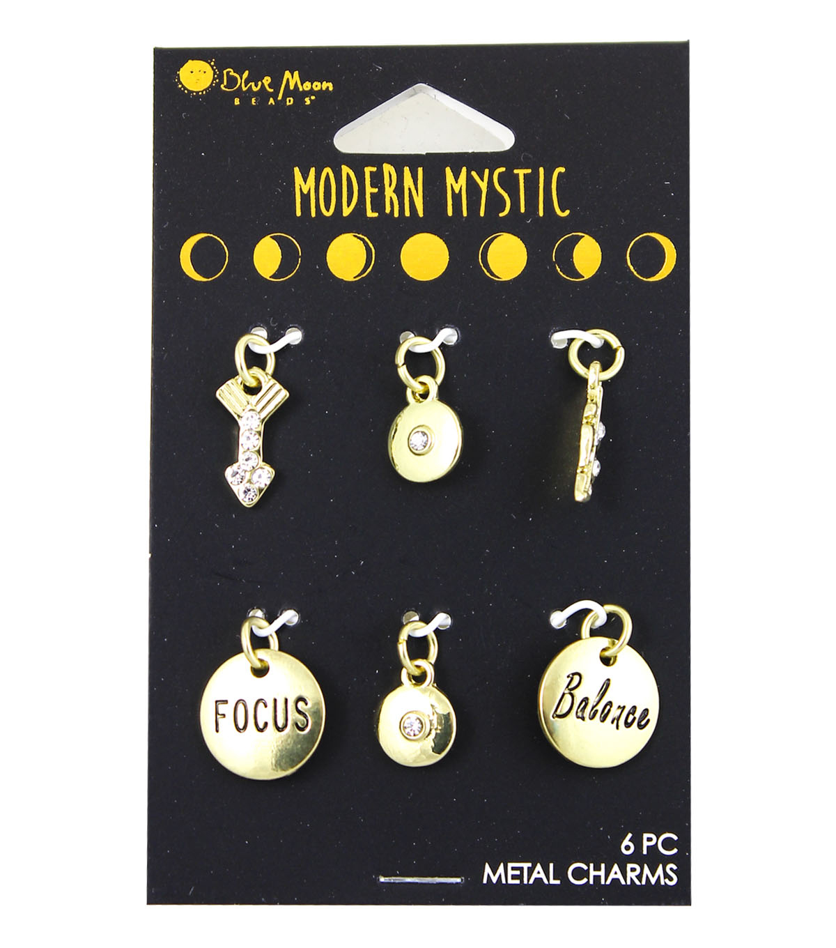 Blue Moon Beads® Modern Mystic Gold Focus & Believe Mini Charms