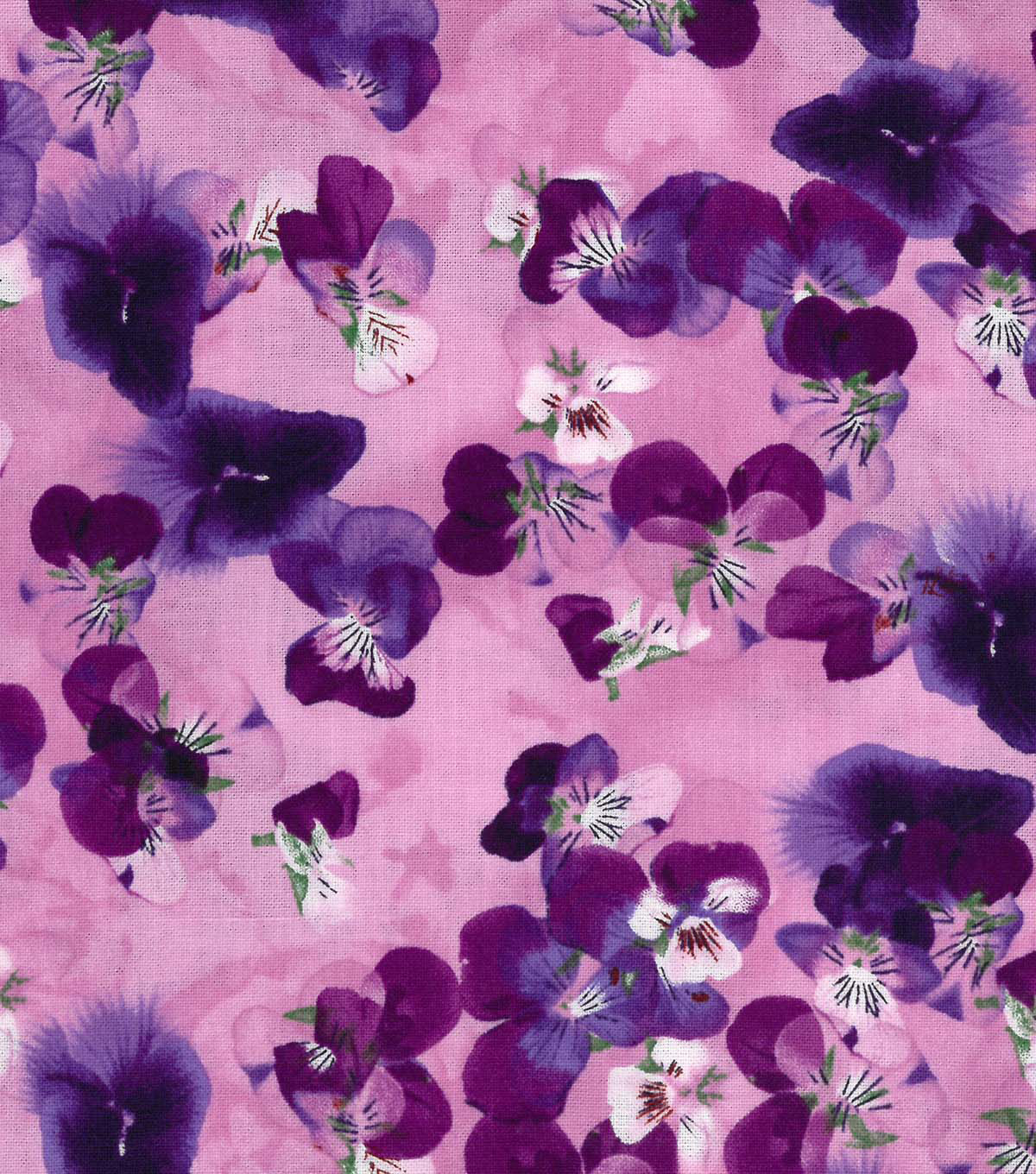 Two Daughters™ Cotton Fabric-Purple Bloom Allover