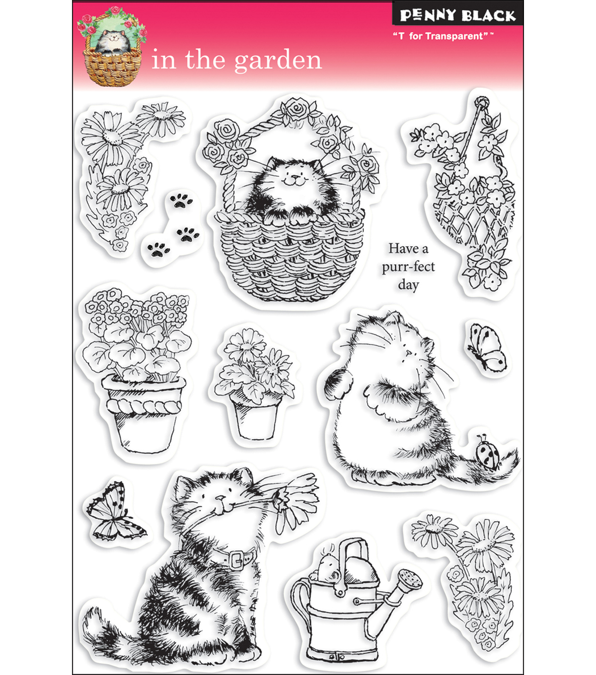 Penny Black Clear Stamp 5\u0022X7.5\u0022 Sheet-In The Garden