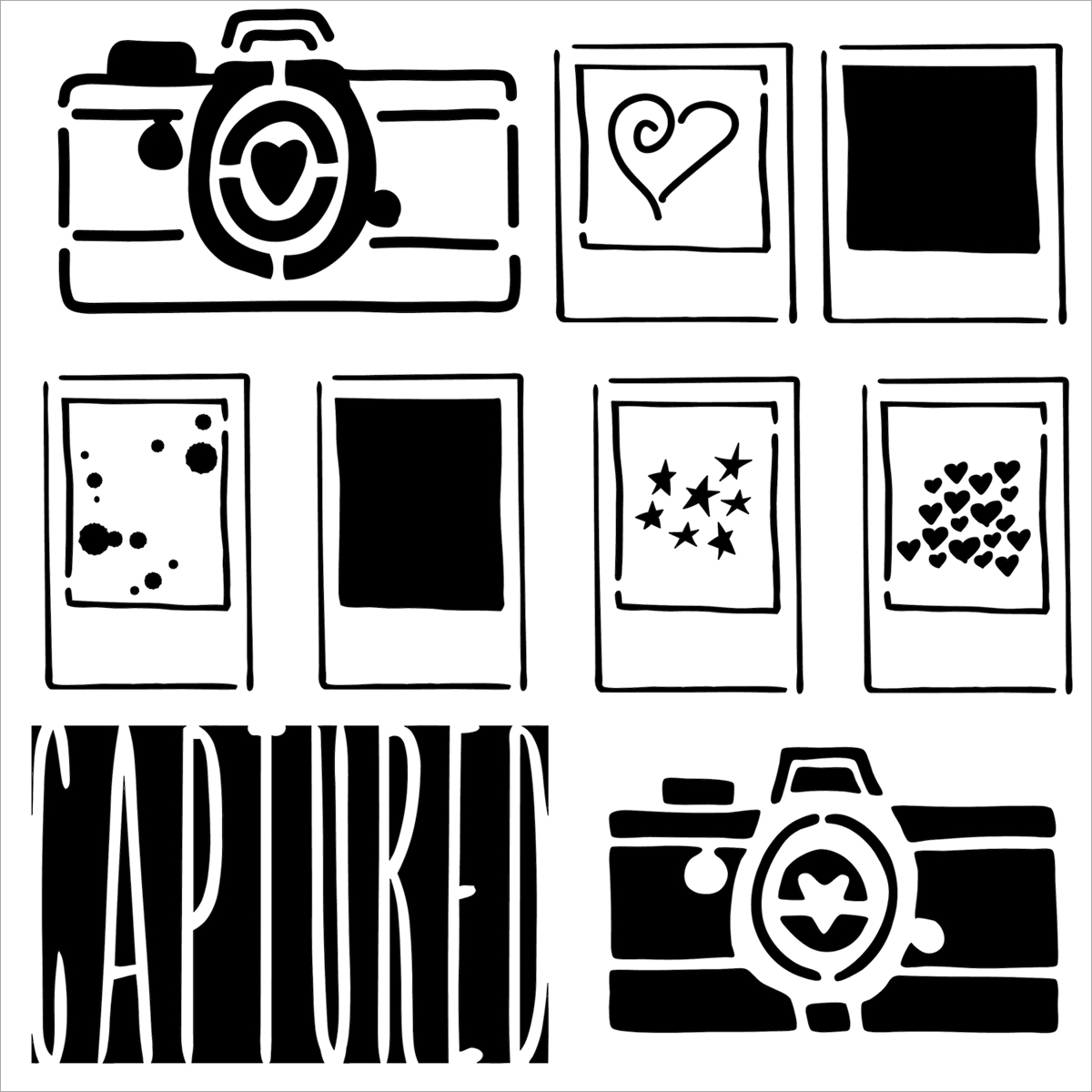 Captured -templates 12x12