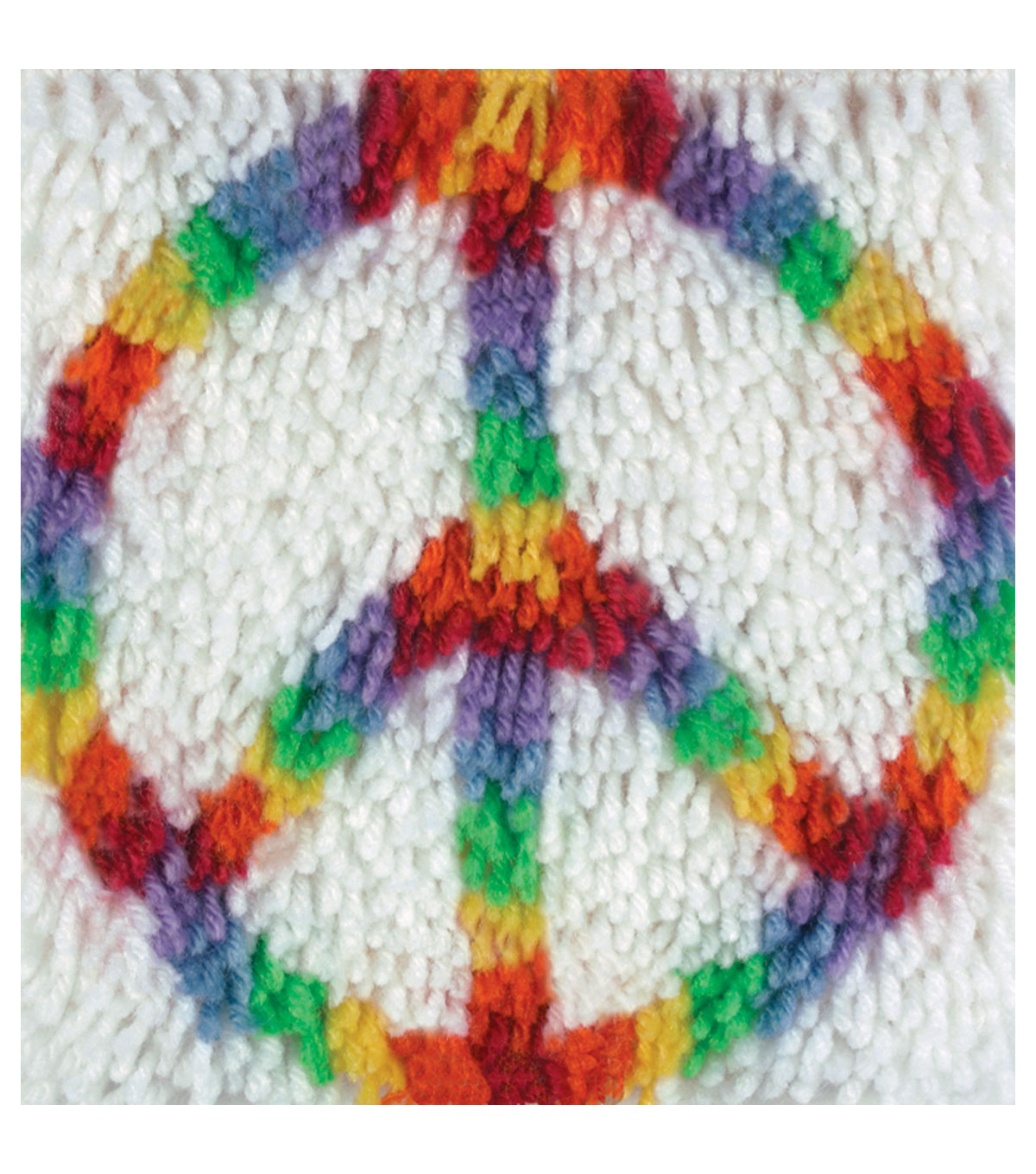 "Wonderart Latch Hook Kit 8""X8""-Peace"