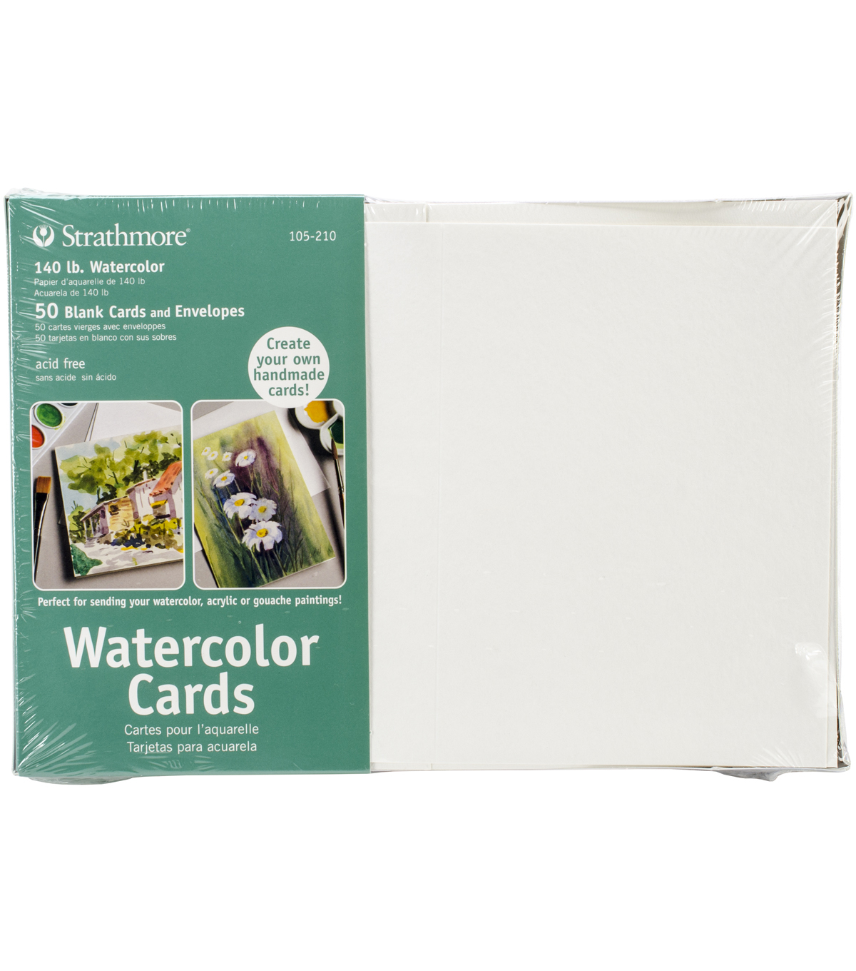 Strathmore Cards & Envelopes 5\u0022X6.875\u0022 50/Pkg-Watercolor