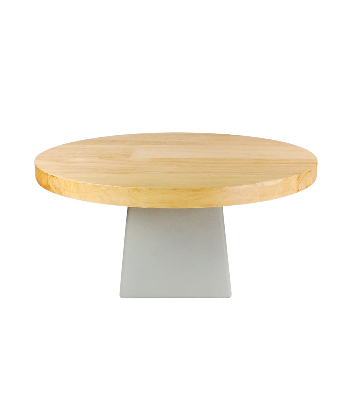 Fab Lab™ Wood Cake Stand with Concrete Base