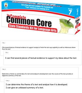 Complete Common Core State Standards Kit for Language Arts Grade 7