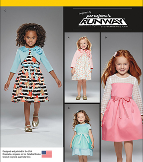 Simplicity Patterns Us8025Aa-Simplicity Toddlers' And Child'S Project Runway Dresses-1/2-1-2-3