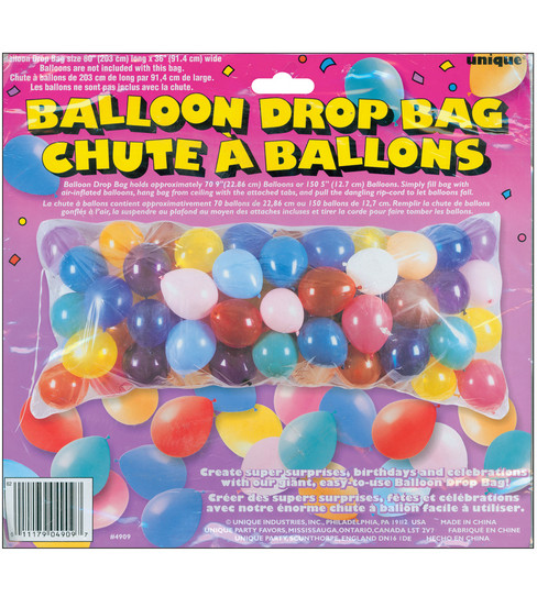 Unique 80\u0027\u0027x36\u0027\u0027 Balloon Drop Bad-1PK