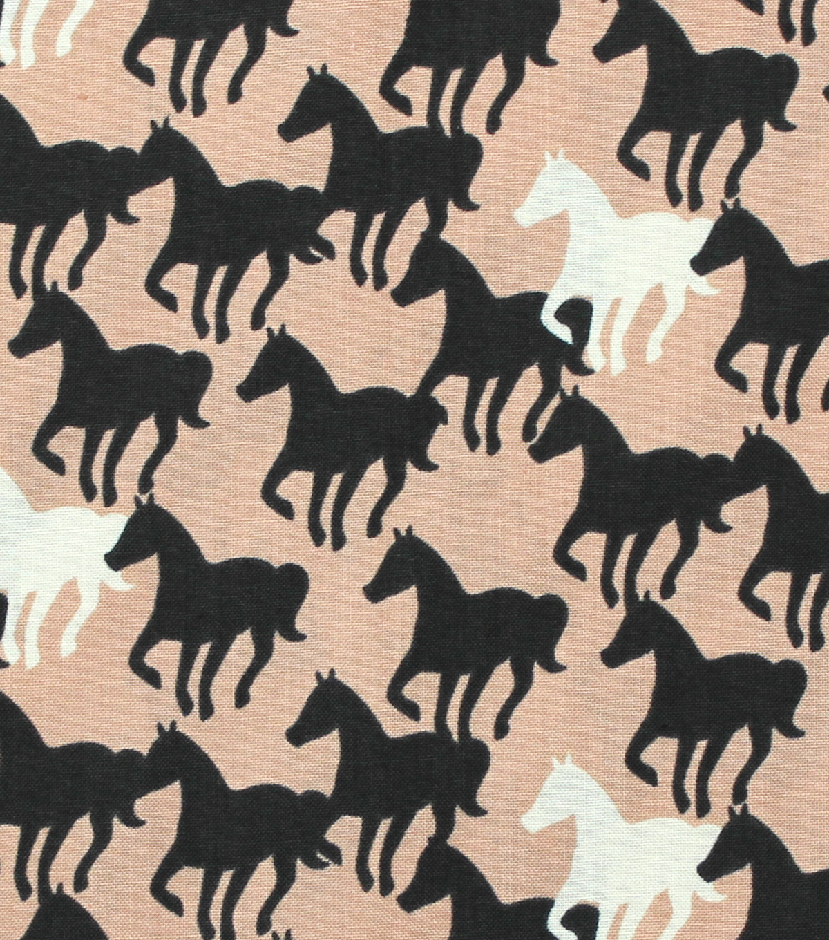 Novelty Cotton Fabric 44\u0022-Horse Silhouettes