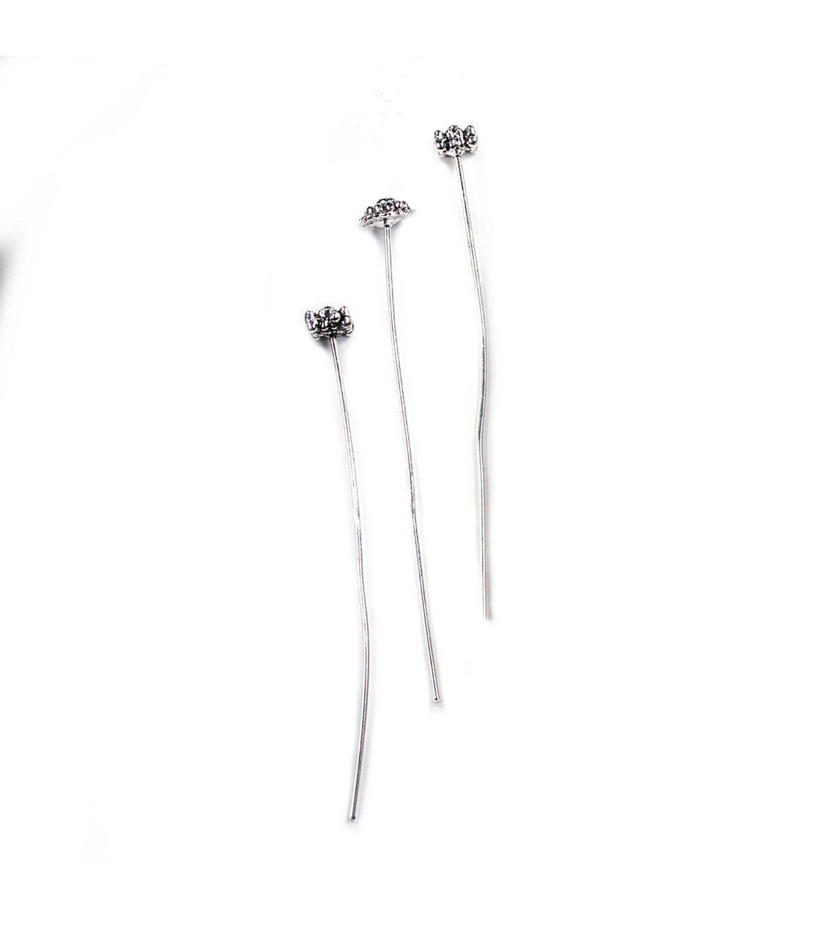 Blue Moon Findings Headpin Metal Multi Pack Antique Silver