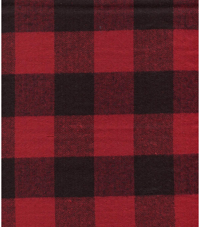 Flannel Shirting Fabric- Red Chevron Buffalo Plaid | JOANN