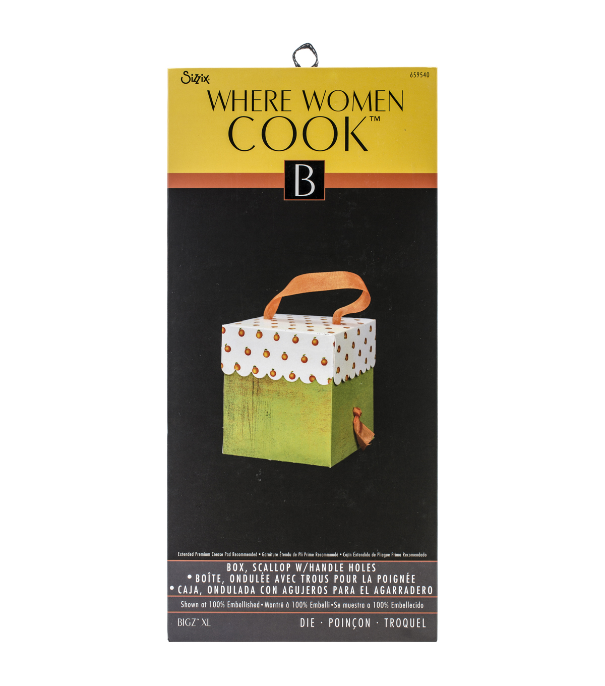 Sizzix Where Women Cook Scallop Box With Handle Holes Bigz XL Die